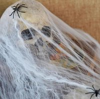Wholesale Halloween Decoration Prop Stretchable Spider Web Decoration Props for Halloween Party Club Haunted House Decoration