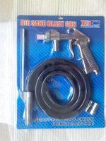 Wholesale Air Sandblasting Gun Kit Air Sandblaster Spray Gun Kit Pneumatic Sandblaster with Extra Nozzles Free Ship