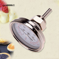 Wholesale 1 quot Stainless Steel Thermometer Moonshine Still Condenser Brew Mash Tun BBQ Double Scale High Quality