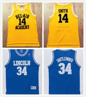air tv movie - 2016 New Arrival jr Smith Ray Allen Movie Version Lincoln BEL AIR ACADEMY Jerseys Perfect quality Theme Costume S XXL