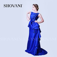 Wholesale Royal blue gown dresses Floor Length Beaded weddings bridesmaid dresses girls dress names with pictures