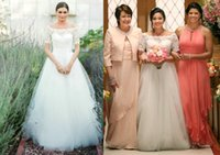 aria model - Cheap Country Lace Wedding Dresses with Short Sleeves Inspired by Jane in TV Dramas Bateau A line Aria Jennifer Bridal Gowns