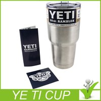 Wholesale Bilayer Stainless Steel Insulation Cup OZ YETI Cups Cars Beer Mug Large Capacity Mug Tumblerful