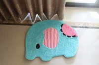 Wholesale 75 CM Baby Elephant carpet kid Entrance carpet Blue fashion cute quality life