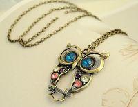 antique gold bead necklace - owl necklaces retro necklaces diamante necklaces bronze antique silver necklaces bead necklaces long necklacces for women