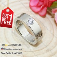 Wholesale Love Series Rings White Gold Stones New Version Fashion Jewelry Brand Gifts For Women Men With Box Set