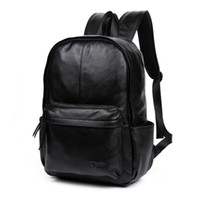 Wholesale DANJUE Genuine Leather Men Backpack Large Capacity Man Travel Bags High Quality Trendy Business Bag For Man Leisure Laptop Bag