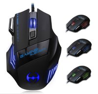 Wholesale LED Light Optical Backlight Wired Mouse Game Gaming Mice USB DPI Ergonomic Design for Computer Laptop Game