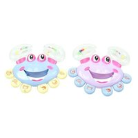 Wholesale 1pc Kids Baby Crab Design Handbell Musical Instrument Jingle Rattle Toy A00033 SMAD