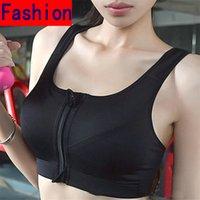 Wholesale Women No Rims Sports Bra Sexry Yoga Exercise Underwear Running Fitness Yoga Bra Zipper Competition Vest