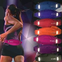 Wholesale Night light waist bag Noctilucence band fitness waistbag Quality nylon Outdoor portable run sport hip pack