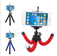 Wholesale Mini Flexible Camera Phone Holder Flexible Octopus Tripod Bracket Stand Holder Mount Monopod Styling Accessories including clip