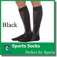 Wholesale Men Women Leg Support Stretch Outdoor Sport Socks Knee High Compression Unisex Socks Running Snowboard Socks Long Socks pairs