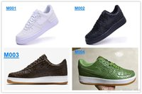 Wholesale Men AF Original All White And Black quot The crocodile grain quot Men s Training Shoes High Quality Sneakers