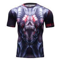 Wholesale Marvel Avengers Horror Superhero Compression Shirt Men Gym Fitness Short Sleeve Sport T Shirt Training Running Tee Shirts Tights