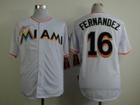 Wholesale Marlins Jose Fernandez White Baseball Jerseys Discount Cheap Men s Baseball Uniforms Baseball Shirts Stitched Name and Number In Stock