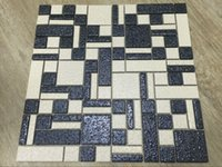 Wholesale Black and white grid mosaic