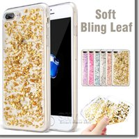 soft packaging - For iPhone Bling Bling Case Colorful Soft TPU Glitter Crystal Case For iPhone S Plus Samsung S7 S6 Edge with OPP Package