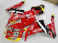 abs tricks - Injection Mold Fairing Kit With Rear Seat Cover Tank Cover Fits CBR1000 CBR Red Trick Star Q74