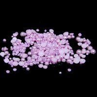 1.5mm-9mm backpack crafts - Light Purple Half Round Crafts Pearls mm Scrapbook ABS Resin Beads Use Glue For D Nails Art Backpack Design Decorations