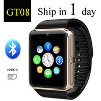 Wholesale GT08 Bluetooth Smart Watch with SIM Card Slot and NFC Health Watchs for Android Samsung and IOS Apple iphone Smartphone Bracelet dhl OTH098
