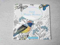 Wholesale English Edition Bird Magic Mirror Pages Secret Garden Styles Coloring Book For Adult Relieve Stress Painting Drawing Books