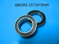 ball chrome steel - 6802RS bearing Rubber sealed bearing Thin wall bearing RS mm chrome steel
