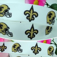 accessories sports apparel - 7 quot mm Sports Team New Orleans Football Printed Grosgrain Ribbons Apparel Party Event Decos DIY Accessories Y A2