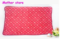 animal bedding material - 10pcs New style Y baby kids coral fleece red dots blanket on the bed cm cm newborn girl boy soft material outfit blanket