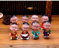 Wholesale Little novice monk car decoration accessories young monk Interior Decorations resin lovely doll supplies automotive Interior Decorations