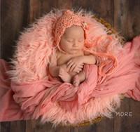 Wholesale 85cm x cm Mongolia Fur Photography Props Newborn Faux Fur Blanket Basket Stuffer Newborn Photography Props