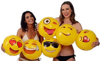 Wholesale 2016 Hot Selling Emoji PVC Inflatable Beach Balls Inflatable Ball Pool Outdoor Play Beach Toys