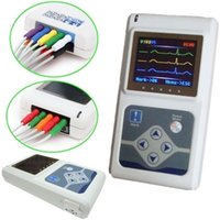 ambulatory monitoring system - 24 Hours Contec TLC5000 ECG EKG System Analysis Monitor with Software Channels leads Ambulatory ECG EKG Holter