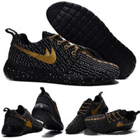 Wholesale With Box Roshe one x boost Low black gold mens runing shoes roshe run breathable roshes runs for men Shoes