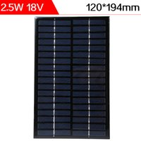 ELEGEEK 2.5W18V 120 * 194 * 3mm Resina de epoxi Encapsulated Panel solar de la célula solar del silicio policristalino mini para DIY y la educación