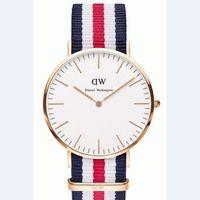 Wholesale Hot Sale Color Top Brand Daniel Wellington Watch Luxury Style DW Watches Men Women Nylon Strap Quartz Wristwatch FDW