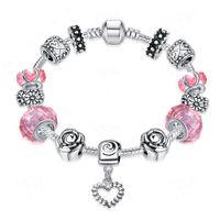 Wholesale 2016 new fashion jewelry Fashion Jewelry charm Bracelets Bangles for women European Beads bracelet PDRH031