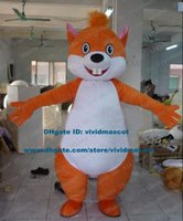 big front teeth - Wicked Orange Squirrel Chipmunk Chipmuck Chippy Mascot Costume Cartoon Character Mascotte Adult Fat Body Big Front Teeth ZZ840
