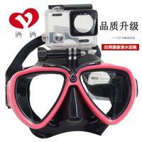Snorkeling costume de plongée adulte sec lunettes de natation masque équipement GoPro