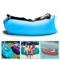 Cheap 2016 New Hangout Fast Inflatable Lounger Air Sleep Camping Sofa KAISR Beach Nylon Fabric Sleeping Bag Bed Lazy Chair ourdoor