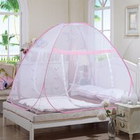 bags for tents - 2016 Olympic Hot New Style Tent Pink Mosquito Net For Bed Blue Bunk Bed Mosquito Net Mesh Mongolia bag shaped mosquito net DHL Free