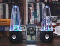 Wholesale New Colorful lights crystal water dance music sound tumbler water fountain water dancing speaker mini stereo subwoofer
