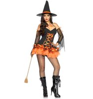 beauty girl games - High quality sexy halloween spirit witch cosplay costumes entertainment venue woman Masquerade role playing game Pumpkin Girl