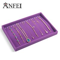 Wholesale Jewelry Display Necklace Box Jewelry Organizer Jewellery Box Jewelry Boxes And Packaging Organizador Purple fashion necklace organizer box