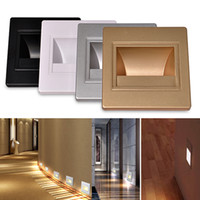 baby stairs - 85 V LED Wall Plinth Recessed Stairs Step Lights W Hotel Bathroom Baby Bedroom Footlight LED Night Meeting Room Hallway Porch Lamps