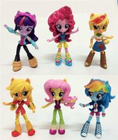Wholesale Cute Pony Girls Doll Furnishing Articles Toys Model Movable Joints Equestria Girl Kids Mini Dolls Playsets