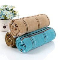 bath towels cheap - Cheap Factory Cotton Towel Thick Extended Grams Of Dark Squares Bath Towel Fitness Towel HY1256