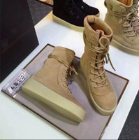 Wholesale 2016 NEW Vintage Lovers Nubuck Leather Chelsea Boots Lace Up Kanye West Ankle Boots Platform Botas Casual women High Martain Botas Shoes