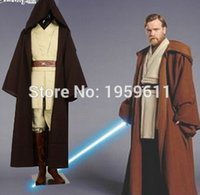 Wholesale Star Wars Costume Jedi Master Obi Wan Ben Kenobi Cosplay Tunic Suit Costume Star Wars Cosplay Costume