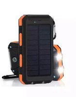 Wholesale Waterproof Solar Power Bank Real mAh Dual USB External Polymer Battery Charger Outdoor lamp Light Powerbank